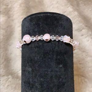 Baby pink evil eye Bracelet.